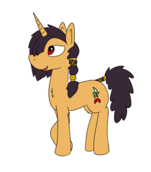 Size: 2136x2432 | Tagged: artist:liserancascade, oc, oc:archie, safe, simple background, solo, transparent background, unicorn
