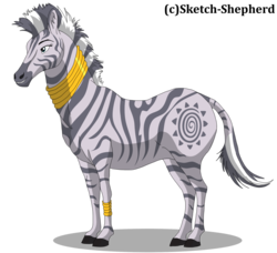 Size: 1024x933 | Tagged: artist:sketch-shepherd, cute, grin, hoers, realistic, realistic anatomy, safe, simple background, smiling, solo, transparent background, unshorn fetlocks, zebra, zecora, zecorable