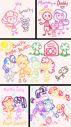 Size: 720x1280 | Tagged: apple bloom, apple family, applejack, artist:carouselunique, big macintosh, cadmac, child, child artwork, comic:a garden grows, cute, dean cadance, equestria girls, female, granny smith, lesbian, male, oc, oc:honeycrisp blossom, parent:big macintosh, parent:princess cadance, parents:cadmac, princess cadance, princess flurry heart, rarijack, rarity, safe, sci-twi, scitwishimmer, shining armor, shiningcadance, shipping, smarty pants, straight, sunset shimmer, sunsetsparkle, sweet apple acres, twilight sparkle, winona
