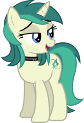 Size: 5201x7567 | Tagged: safe, artist:8-notes, artist:tyamat, edit, oc, oc only, oc:spring starflower, pony, unicorn, absurd resolution, choker, cute, freckles, lidded eyes, male to female, open mouth, recolor, simple background, smiling, solo, trans girl, transgender, transparent background, vector