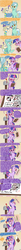 Size: 1050x12600   Tagged: safe, artist:docwario, bon bon, lyra heartstrings, sweetie drops, twilight sparkle, pony, unicorn, askblankbon, clipboard, comic, continuity, dialogue, female, glasses, inanimate tf, letter, lidded eyes, looking at you, mailbox, mare, pun, rearing, smiling, speech bubble, transformation, visual pun
