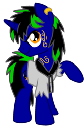Size: 726x1099 | Tagged: safe, artist:monkfishyadopts, oc, oc only, oc:dust rock, pony, unicorn, 2018 community collab, derpibooru community collaboration, clothes, ear piercing, earring, hoodie, jewelry, male, piercing, rocker, simple background, solo, stallion, tattoo, torn clothes, transparent background