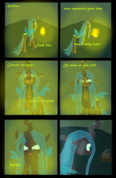 Size: 2008x3071 | Tagged: safe, artist:mr100dragon100, queen chrysalis, changeling, fire, flame eyes, former queen chrysalis, light skin, surprised