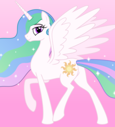 Size: 2138x2352 | Tagged: safe, artist:grypher, derpibooru exclusive, princess celestia, alicorn, butt, female, looking at you, mare, missing accessory, plot, raised leg, simple background, solo, vector