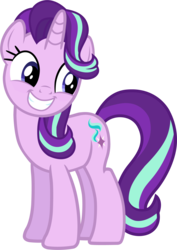 Size: 1398x1978   Tagged: safe, artist:davidsfire, starlight glimmer, pony, unicorn, rock solid friendship, cute, female, glimmerbetes, grin, looking back, mare, simple background, smiling, solo, squee, transparent background, vector