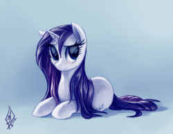 Size: 1147x886 | Tagged: safe, artist:whitediamonds, rarity, pony, unicorn, adorasexy, beautiful, cute, female, mare, prone, raribetes, smiling, solo, wet mane