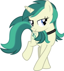 Size: 4500x5028 | Tagged: safe, artist:tyamat, artist:vaderpl, edit, oc, oc only, oc:spring starflower, pony, unicorn, absurd resolution, choker, cute, female, freckles, lidded eyes, male to female, recolor, simple background, smiling, trans girl, transgender, transparent background, vector