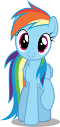 Size: 3000x6281   Tagged: safe, artist:dashiesparkle, rainbow dash, pegasus, pony, newbie dash, .svg available, absurd resolution, cute, dashabetes, female, hnnng, looking at you, mare, raised hoof, simple background, smiling, solo, transparent background, vector