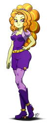 Size: 347x900 | Tagged: adagio dazzle, artist:pia-sama, bedroom eyes, boots, cleavage, clothes, equestria girls, female, high heel boots, looking at you, safe, shoes, simple background, smiling, solo, white background