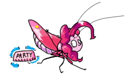 Size: 786x483 | Tagged: artist:fishimira, cockroach, insect, pinkie pie, roach, safe, simple background, solo, species swap, wat, white background