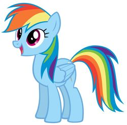 Size: 901x886 | Tagged: safe, rainbow dash, female, simple background, solo, white background