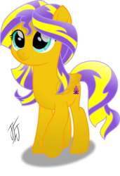 Size: 2141x3135 | Tagged: safe, artist:mlp-scribbles, oc, oc only, oc:sunrise beauty, pegasus, pony, female, gift art, high res, inkscape, mare, movie accurate, ponyscape, recolor, signature, simple background, solo, standing, transparent background, vector