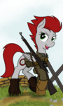 Size: 1536x2560 | Tagged: artist:xphil1998, call of duty, gun, oc, oc only, oc:sharps eye, pegasus, pony, rifle, safe, weapon, world war ii