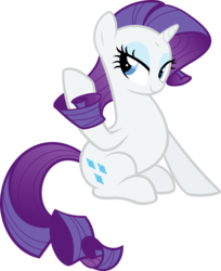 Size: 2831x3469 | Tagged: safe, artist:breadking, rarity, pony, cute, female, high res, raribetes, simple background, sitting, solo, transparent background, vector