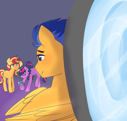 Size: 4320x4112 | Tagged: artist:h0mi3, artist:triplestitch, baby, cocosentry, equestria girls ponified, female, flash sentry, implied coco pommel, lesbian, magical lesbian spawn, male, oc, oc:sparkling sapphire, offspring, parent:sci-twi, parents:scitwishimmer, parents:sunsetsparkle, parent:sunset shimmer, parent:twilight sparkle, ponified, pony, safe, sciset daily, sci-twi, scitwishimmer, shipping, straight, sunset shimmer, sunsetsparkle, twilight sparkle, unicorn