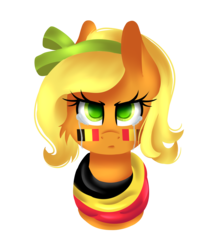 Size: 2800x3200 | Tagged: artist:blocksy-art, belgium, bust, clothes, crying, female, high res, mare, nation ponies, ponified, pony, portrait, safe, scarf, simple background, solo, transparent background