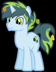 Size: 1405x1814 | Tagged: safe, artist:monkfishyadopts, oc, oc only, oc:thatsa releaf, pony, unicorn, base used, leaf, leaves, male, simple background, solo, stallion, transparent background