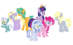 Size: 1325x820 | Tagged: safe, artist:cookiek17, derpy hooves, dinky hooves, pinkie pie, snails, twilight sparkle, oc, alicorn, derpypie, female, lesbian, rule 63, shipping, simple background, transparent background, twerpy, twerpypie, twilight sparkle (alicorn), twinkie