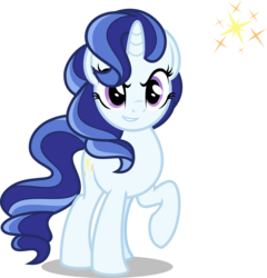 Size: 5000x5213 | Tagged: safe, artist:orin331, majesty, unicorn, dancerverse, g1, absurd resolution, alternate hairstyle, female, g1 to g4, generation leap, mare, raised hoof, simple background, smiling, solo, transparent background