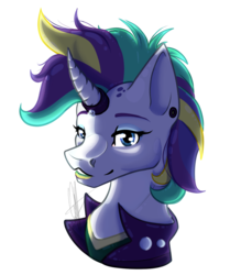 Size: 1101x1200 | Tagged: safe, artist:rimmi1357, rarity, alternate hairstyle, clothes, curved horn, halloween, holiday, horn jewelry, horn ring, jacket, jewelry, leather jacket, mohawk, punk, raripunk, simple background, transparent background