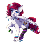 Size: 2150x2175 | Tagged: safe, artist:serenity, oc, oc only, oc:keyla, pegasus, pony, accessories, clothes, feather, female, looking at you, mare, simple background, socks, solo, striped socks, transparent background, unshorn fetlocks, wingding eyes