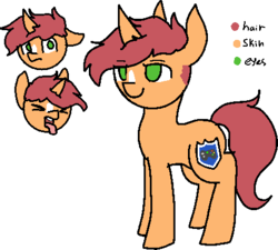 Size: 460x414 | Tagged: safe, artist:nootaz, oc, oc only, oc:game guard, reference sheet, simple background, transparent background