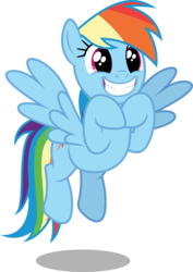 Size: 3544x5000   Tagged: safe, artist:dashiesparkle, rainbow dash, pegasus, pony, stranger than fan fiction, .svg available, cute, dashabetes, excited, female, grin, mare, simple background, smiling, solo, transparent background, vector