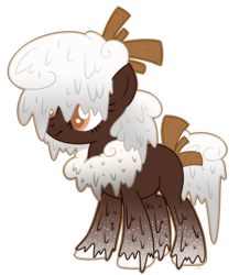 Size: 1024x1126 | Tagged: safe, artist:maddollypinkie, oc, oc only, chocolate pony, food pony, original species, pony, base used, chocolate, female, food, simple background, solo, transparent background