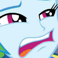 Size: 190x190 | Tagged: safe, screencap, rainbow dash, equestria girls, equestria girls series, overpowered (equestria girls), cropped, faic, female, rainbow dash is best facemaker