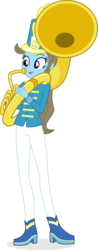 Size: 4309x10966 | Tagged: safe, artist:punzil504, beauty brass, equestria girls, rainbow rocks, absurd resolution, clothes, equestria girls-ified, female, musical instrument, playing, simple background, solo, sousaphone, transparent background, uniform