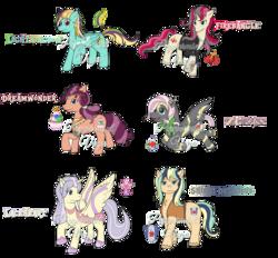 Size: 1024x951 | Tagged: safe, artist:peppermintvega, applejack, shining armor, oc, oc only, oc:dreamwonder, oc:firebangle, oc:laceheart, oc:lightningbow, oc:magefree, oc:shine delicious, pony, female, infidelity, magical lesbian spawn, male, offspring, parent:applejack, parent:fluttershy, parent:lightning dust, parent:lily lace, parent:pinkie pie, parent:rainbow dash, parent:rarity, parent:saffron masala, parent:shining armor, parent:sunset shimmer, parent:twilight sparkle, parent:zecora, parents:rainbowdust, parents:saffronpie, parents:shiningjack, parents:shycora, parents:sunsarity, parents:twilace, shiningjack, shipping, straight