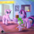 Size: 3000x3000 | Tagged: safe, artist:katakiuchi4u, spike, starlight glimmer, twilight sparkle, alicorn, dragon, pony, unicorn, bald, bandaid, bittersweet, blushing, cancer (disease), chemotherapy, crutches, crying, hospital, looking at each other, missing cutie mark, sad, spread wings, teary eyes, twilight sparkle (alicorn), wings