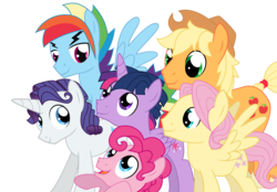 Size: 1815x1260 | Tagged: safe, artist:dragonchaser123, applejack, fluttershy, pinkie pie, rainbow dash, rarity, twilight sparkle, alicorn, earth pony, pegasus, pony, unicorn, applejack (male), bubble berry, butterscotch, dusk shine, elusive, group, male, male six, mane six, prince dusk, rainbow blitz, rule 63, simple background, stallion, transparent background, twilight sparkle (alicorn)