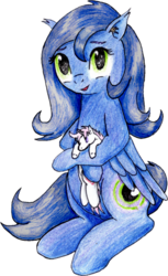 Size: 732x1200 | Tagged: artist:40kponyguy, cute, derpibooru exclusive, ear fluff, edit, edited edit, editor:binkyt11, looking at you, oc, ocbetes, oc:mythos gray, oc only, oc:star dream, pegasus, plushie, pony, safe, simple background, solo, traditional art, transparent background
