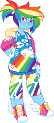 Size: 1480x3345 | Tagged: safe, artist:mxdeer, rainbow dash, equestria girls, clothes, converse, fingerless gloves, gloves, hand on hip, leggings, ponytail, shoes, simple background, solo, transparent background