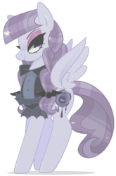 Size: 845x1280 | Tagged: safe, artist:euphoriapony, inky rose, pegasus, pony, honest apple, braid, female, inkybetes, lidded eyes, looking at you, mare, profile, simple background, smiling, solo, spread wings, transparent background, wings