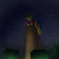 Size: 1000x1000 | Tagged: artist:martenmartes, commission, creeper, cutie mark, male, minecraft, night, night sky, oc, oc:code sketch, oc only, pony, safe, sky, stallion, stars, unicorn, ych result, zombie
