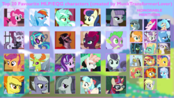 Size: 2938x1653 | Tagged: safe, artist:moonhowlerel, bon bon, coco pommel, coloratura, derpy hooves, discord, dj pon-3, flash sentry, gabby, inky rose, king sombra, limestone pie, lyra heartstrings, marble pie, maud pie, moondancer, pear butter, pinkie pie, princess skystar, queen chrysalis, queen novo, rainbow dash, scootaloo, screw loose, spike, spitfire, starlight glimmer, sunburst, sunset shimmer, svengallop, sweetie belle, sweetie drops, tempest shadow, thorax, tree hugger, trixie, vinyl scratch, zephyr breeze, changedling, changeling, dragon, griffon, seapony (g4), my little pony: the movie, king thorax, wall of tags