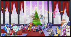 Size: 1280x665 | Tagged: alicorn, apple bloom, applejack, artist:darkageequestia, christmas, christmas tree, coco pommel, cocosentry, crossover, diamondbloom, diamond tiara, dj pon-3, dragon, female, flash sentry, flutterdash, fluttershy, holiday, lesbian, magical lesbian spawn, male, night light, oc, oc:honeycrisp blossom, oc:sparkling sapphire, octavia melody, offspring, parents:cadmac, parent:sci-twi, parents:scitwishimmer, parent:sunset shimmer, pinkie pie, princess cadance, princess celestia, princess ember, princess luna, rainbow dash, rarijack, rarity, safe, sciset daily, sci-twi, scitwishimmer, scratchtavia, shining armor, shiningcadance, shipping, spike, straight, sunset shimmer, sunsetsparkle, tree, twilight sparkle, twilight sparkle (alicorn), twilight velvet, twiluna, twolight, vinyl scratch