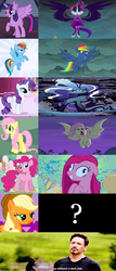 Size: 1264x2954 | Tagged: applejack, avengers: age of ultron, bat pony, bats!, dark side, equestria girls, evil pie hater dash, flutterbat, fluttershy, friendship games, mane six, midnight sparkle, nightmare rarity, odd one out, party of one, pinkamena diane pie, pinkie pie, question mark, race swap, rainbow dash, rarity, safe, secrets and pies, spoiler:comic, spoiler:s07e23, tony stark, twilight sparkle, wrong aspect ratio