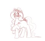 Size: 3900x3600 | Tagged: artist:creativechibigraphics, magic, oc, oc:meadows, oc only, pony, safe, sketch