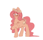 Size: 3900x3600 | Tagged: chest fluff, colored, flower, flower in hair, oc, oc:meadows, oc only, pony, safe, simple background, sketch, solo, tambourine, white background