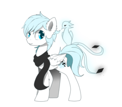 Size: 1600x1400 | Tagged: safe, oc, oc only, oc:diamond frost, pegasus, pony, 2018 community collab, derpibooru community collaboration, clothes, collaboration, pet, scarf, simple background, solo, transparent background