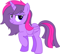Size: 6415x5837 | Tagged: safe, artist:cyanlightning, oc, oc only, oc:wonder sparkle, alicorn, 2018 community collab, derpibooru community collaboration, .svg available, absurd resolution, cute, female, lidded eyes, looking at you, mare, raised hoof, simple background, smug, solo, transparent background, vector