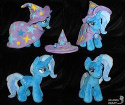 Size: 6598x5536 | Tagged: safe, artist:allunacraft, trixie, pony, absurd resolution, cape, clothes, female, hat, irl, mare, photo, plushie, solo, trixie's cape, trixie's hat