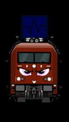 Size: 720x1280 | Tagged: safe, derpibooru exclusive, oc, oc only, oc:snapscrap byte, train pony, claw, db br 101, non-pony oc, simple background, trainpony, transparent background
