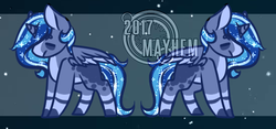Size: 550x258 | Tagged: safe, artist:mayhem-adopts, oc, oc only, magical lesbian spawn, offspring, parent:princess luna, parent:trixie, parents:luxie, solo