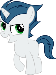 Size: 4544x6081 | Tagged: safe, artist:cyanlightning, oc, oc only, oc:dox bloodhoof, unicorn, 2018 community collab, derpibooru community collaboration, fanfic:one colt army, .svg available, absurd resolution, colt, looking at you, male, simple background, solo, teeth, transparent background, vector