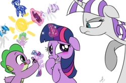 Size: 1214x800 | Tagged: safe, artist:emositecc, night light, shining armor, spike, twilight sparkle, twilight velvet, dragon, pony, unicorn, :d, annoyed, baby, baby dragon, baby spike, blushing, crayon, crayon drawing, cute, female, filly, filly twilight sparkle, floppy ears, glowing horn, graffiti, magic, male, mare, she knows, simple background, smiling, spikabetes, spike's family, sun, telekinesis, tongue out, transparent background, twiabetes, wall, younger