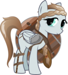 Size: 7200x7941 | Tagged: 2018 community collab, artist:cinderfall, axe, braid, derpibooru community collaboration, oc, oc:northsky, oc only, pegasus, safe, shield, simple background, transparent background, vector, weapon